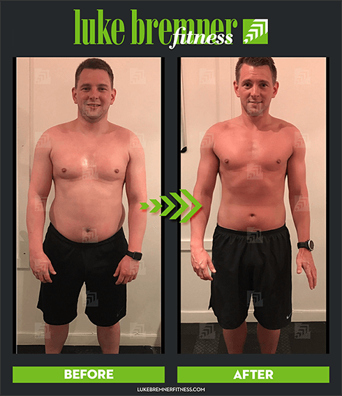 Luke Bremner Fitness - Personal Trainer Edinburgh - Liam Before & After Image