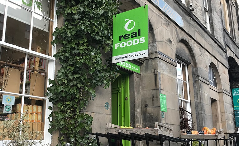 Real Foods Exterior - Personal Trainer Edinburgh - Luke Bremner Fitness